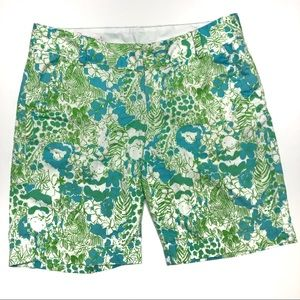 LILLY PULITZER Chipper Shorts Jungle Print Size 8